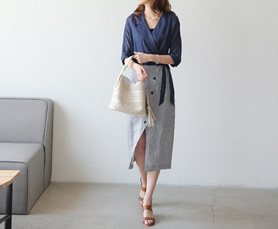 [MOP02OJN_N9] antatika亚麻连衣裙