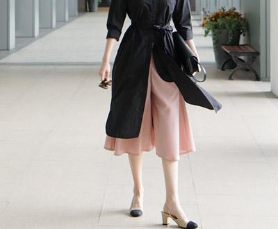 [NPT26JP10其他_N] MIME裤裙波浪群/喇叭裙短裤