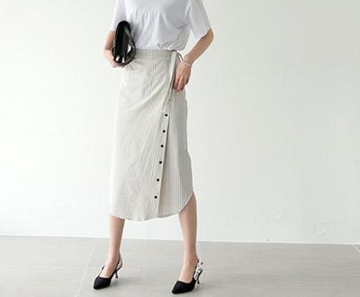 [HSK94P285]马德琳条纹裹裙