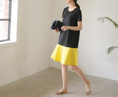 [MOP11P107至 - 底波浪群/喇叭裙连衣裙